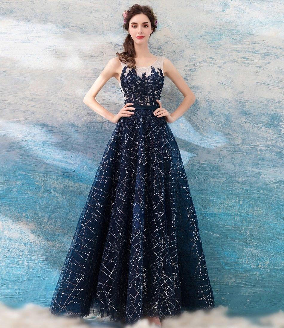 Vestido de festa azul marinho mercado livre