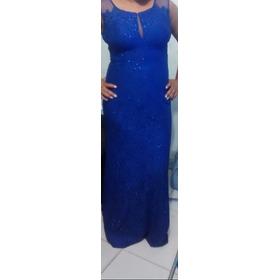 Vestido De Festa Azul Royal- Semi Novo