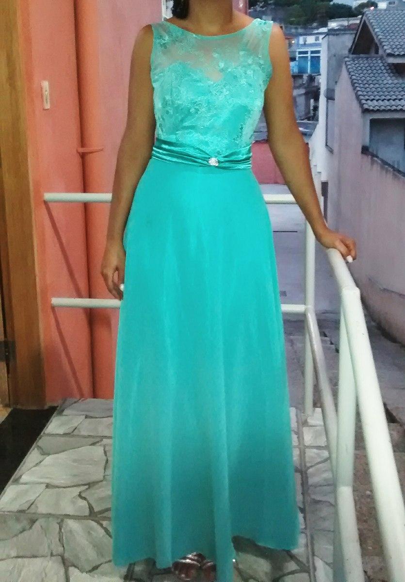 Vestido de festa azul tiffany em sp