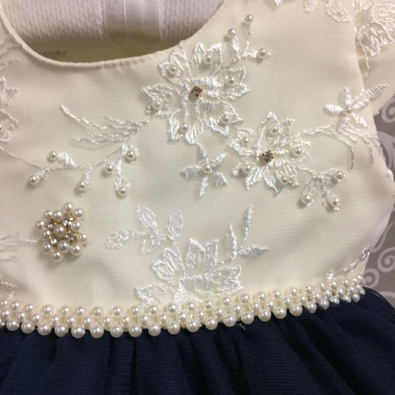 vestido de festa bebê com tecido rendado - 9 a 18 meses. Carregando zoom. 62bfc97af679