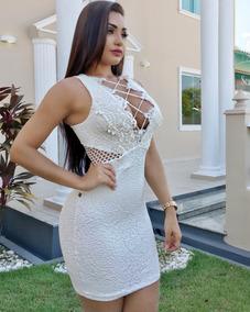 0e220e931 Vestido Branco E Dourado - Vestidos Femininas no Mercado Livre Brasil