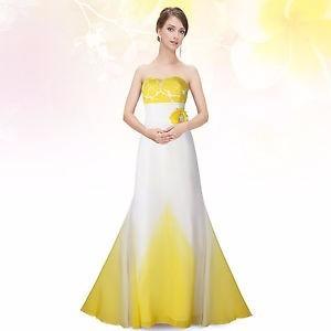 vestido de festa branco e amarelo. com renda. ever-pretty!!!