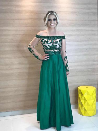 vestido de festa com pedraria