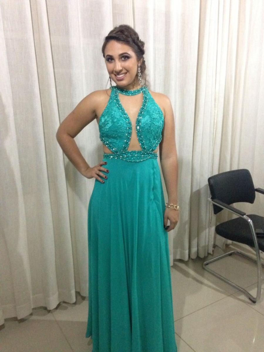 Vestido de festa da cor verde