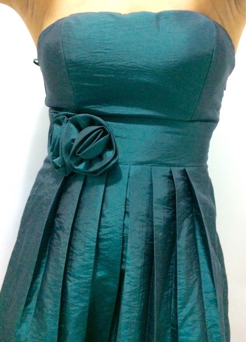 Vestido de festa verde escuro curto