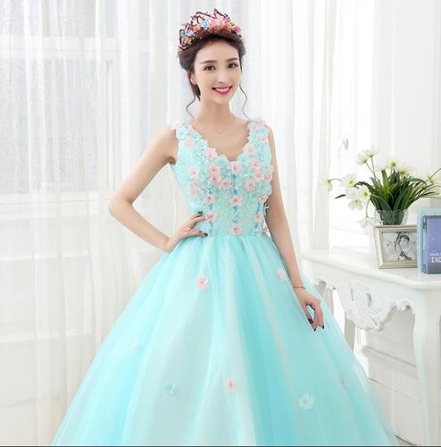 vestido de festa debutante 15 anos tiffany 012 saiote coroa