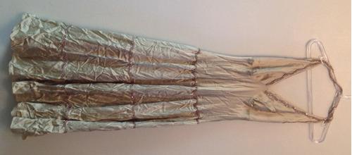 vestido de festa dourado - tam: g - c.431