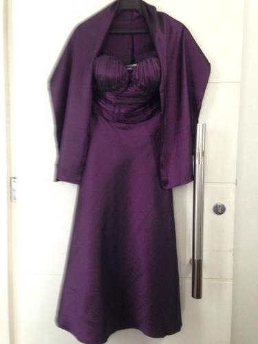 vestido de festa em tafetá - novo!