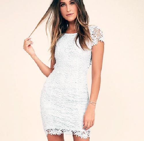436dbc825 Vestido De Festa Feminino Branco De Renda Guipir - R$ 79,90 em ...