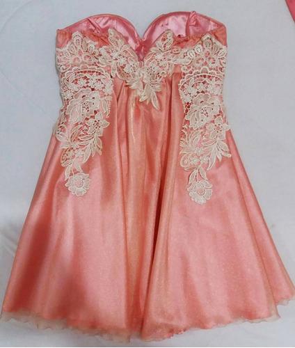 vestido de festa feminino cor rosa com pérolas