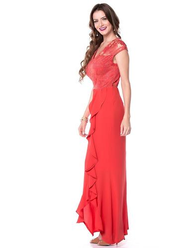vestido de festa formatura longo fenda elegante lindo(05538)