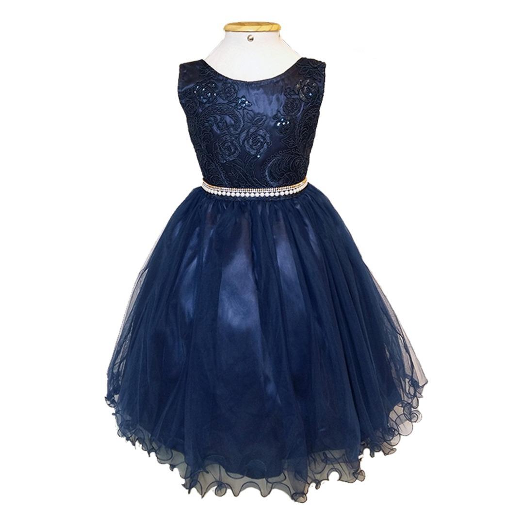 Vestido dama de honra infantil azul
