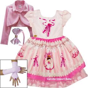 1356452840 Vestido Infantil Bailarina Festa Aniversário - Vestidos Meninas no Mercado  Livre Brasil
