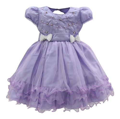 vestido de festa infantil dama de honra batizado princesa