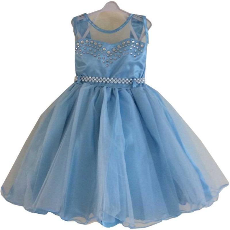 cb7694dbff vestido de festa infantil frozen - magia colorida - 81249. Carregando zoom.