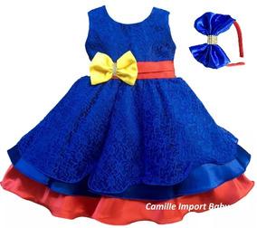 8c574b6d3 Vestido Show Da Luna - Vestidos para Meninas com o Melhores Preços no  Mercado Livre Brasil