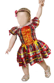 1123d56ad6 Vestido De Festa Junina Caipira Infantil Luxo