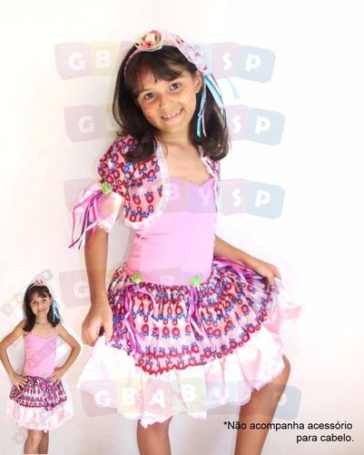 vestido de festa junina para criança junino quadrilha