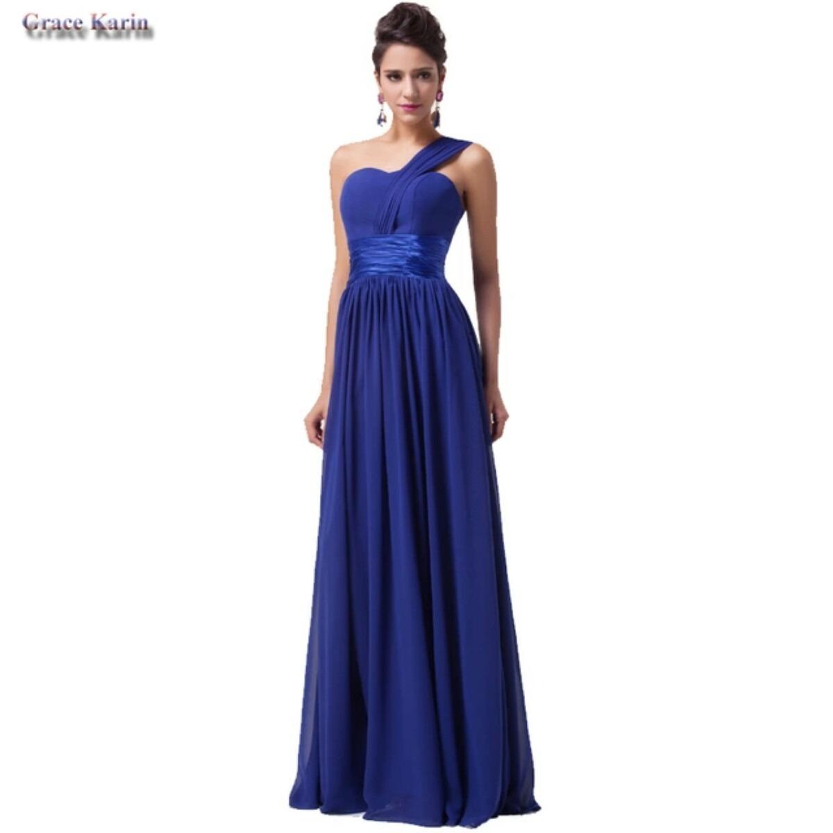 2f4924a11 vestido de festa longo azul importado. Carregando zoom.