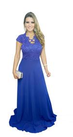 6afe94af745c1 Vestido Madrinha Azul Royal - Vestidos Femeninos Longo com o Melhores  Preços no Mercado Livre Brasil