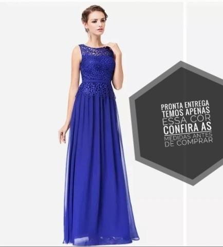 5e4dffa27 Vestido De Festa Longo Barato Casamento Azul Royal - R  100