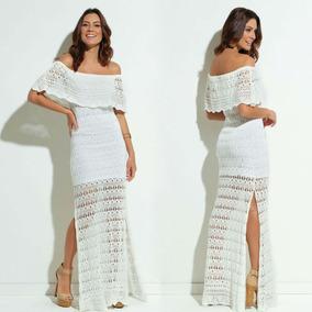 107fdf5ac Vestido De Croche Longo Ciganinha - Vestidos Longos Femininas no ...