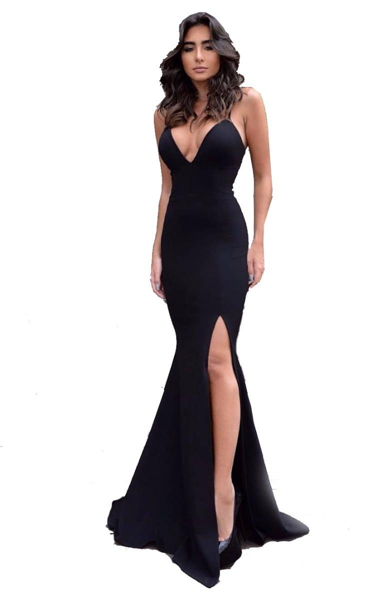 4202aa909 vestido de festa longo com bojo decote costas racho sexy. Carregando zoom.