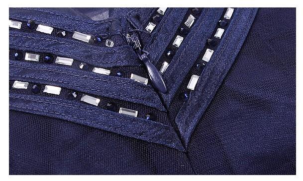 d9bfd0e77a Vestido De Festa Longo Em Chiffon Bordado Azul Marinho - R  850