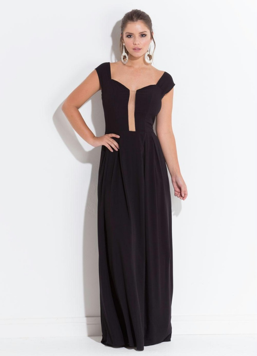 4210b8bec vestido de festa longo plus size moda evangélica feminino. Carregando zoom.