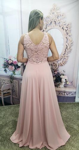 vestido de festa longo rose - madrinha, casamento lindo