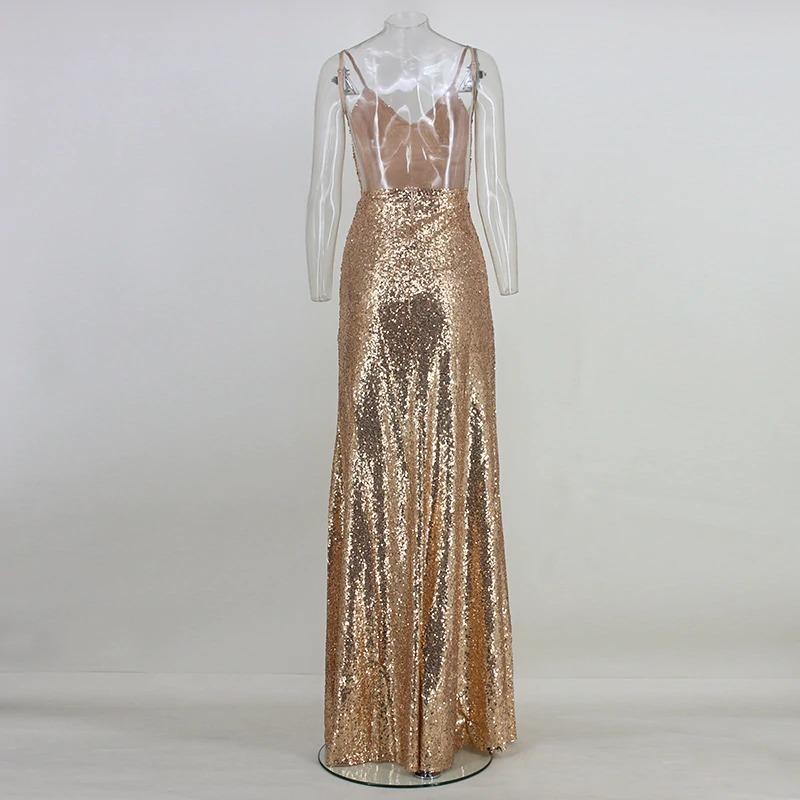 3857a752b5 vestido de festa madrinha formatura dourado brilho longo. Carregando zoom.