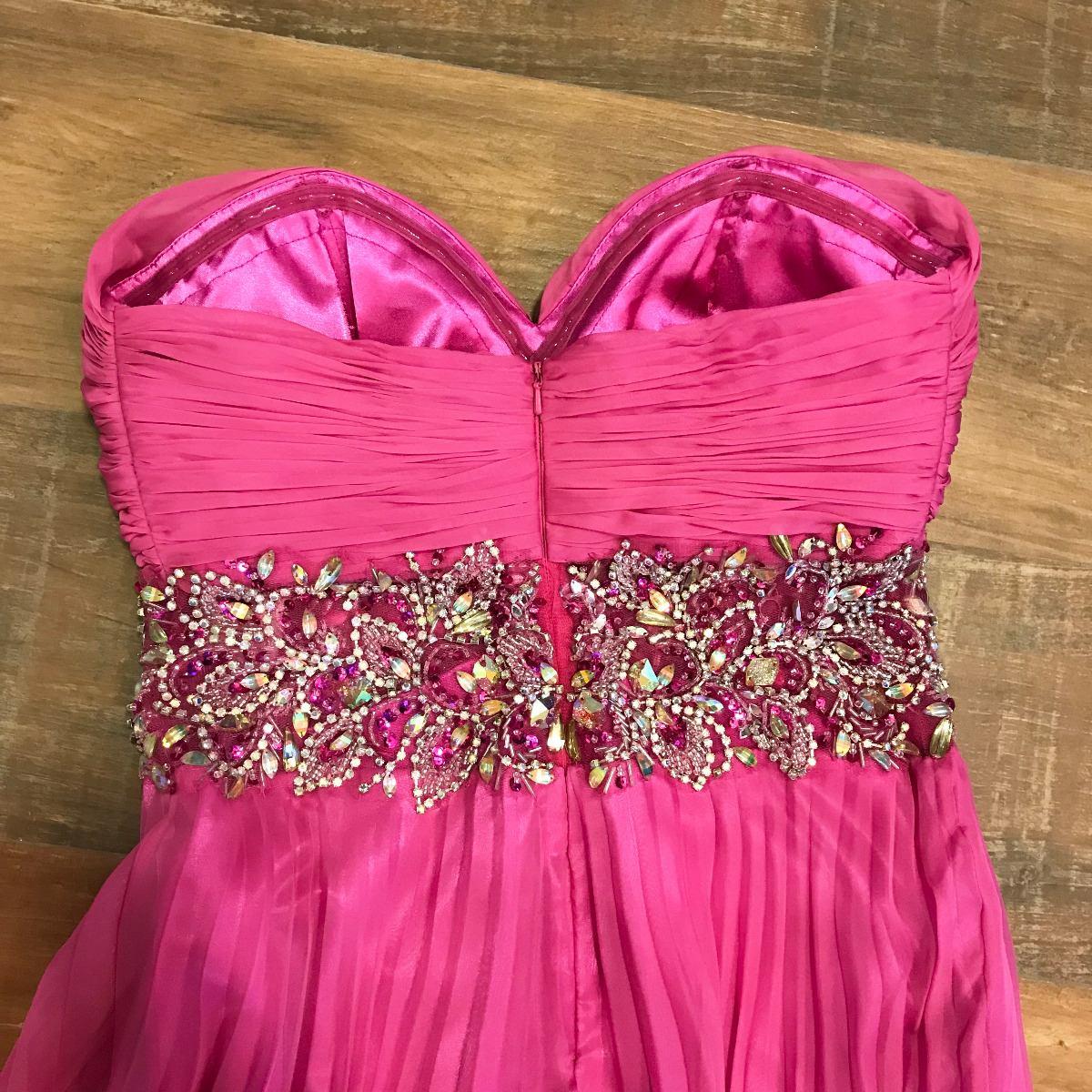 b30b779ce vestido de festa madrinha formatura rosa pink bordado luxo. Carregando zoom.