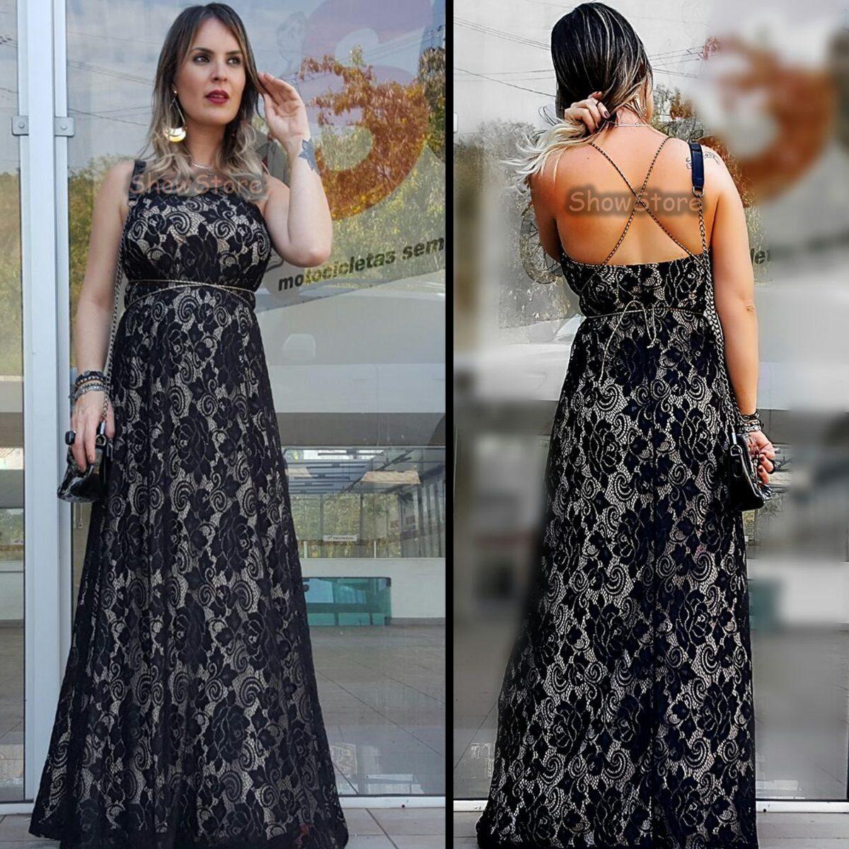 4c266907d vestido de festa madrinha longo em renda casamento 2754. Carregando zoom.