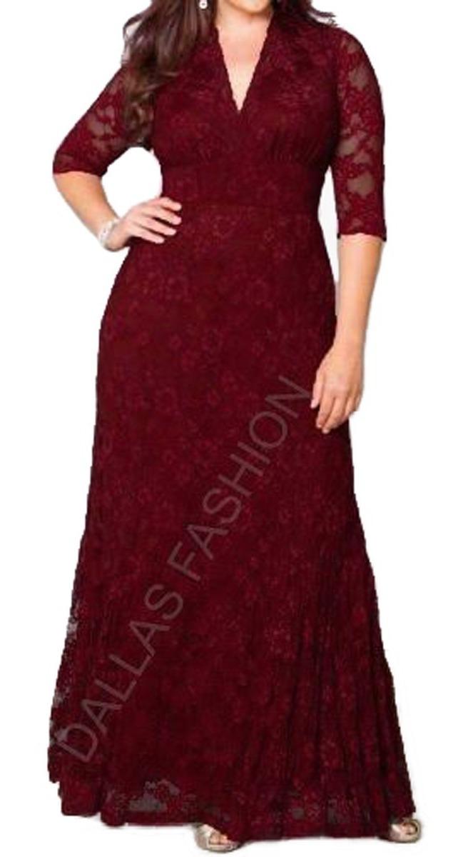 ef266098a Vestido De Festa, Madrinha, Longo, Plus Size - R$ 189,80 em Mercado ...