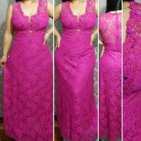 c12c679ec Vestido Rosa Pink Plus Size - Vestidos Femininas no Mercado Livre Brasil