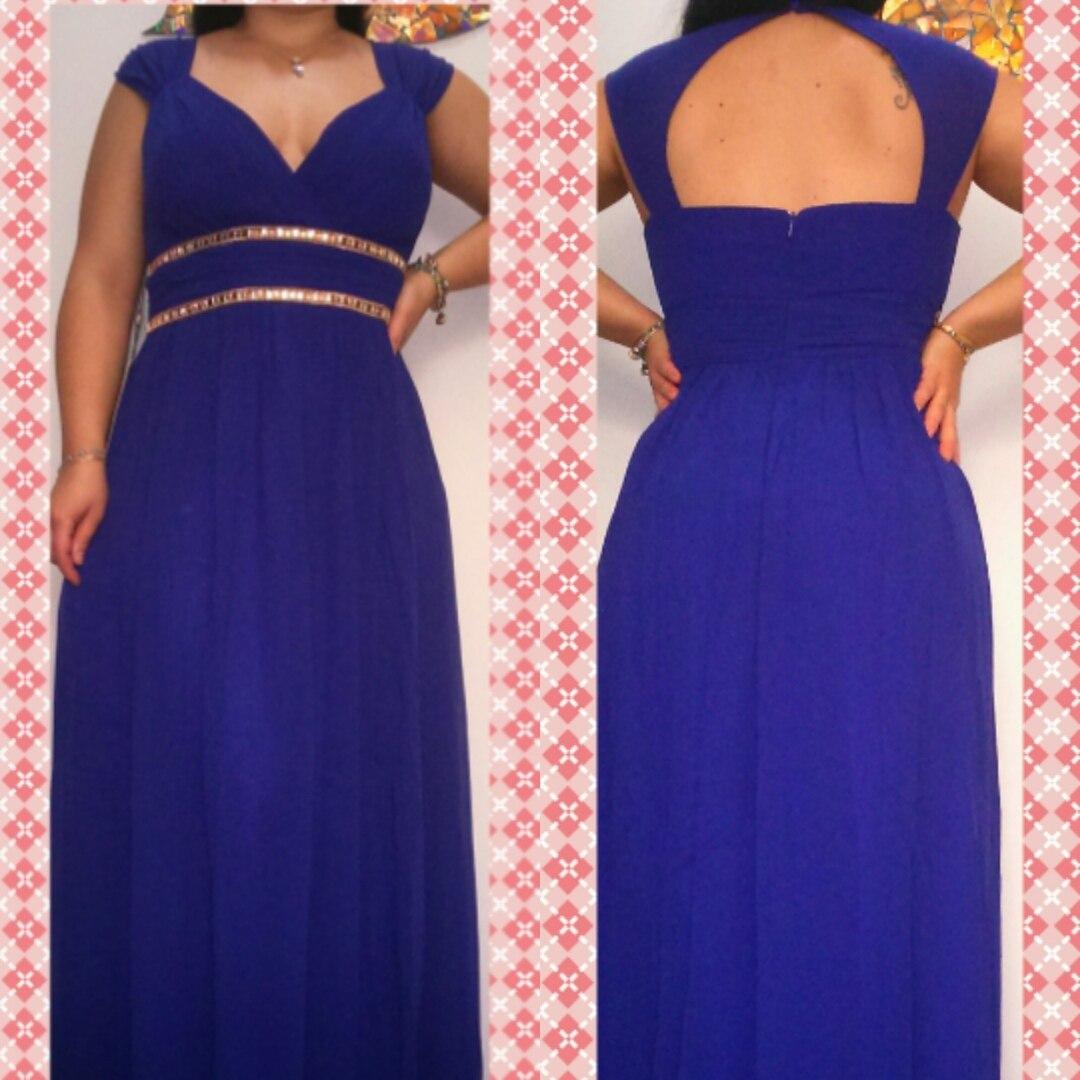 Vestido azul royal c&a