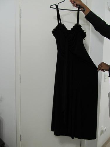vestido de festa plus size preto importado