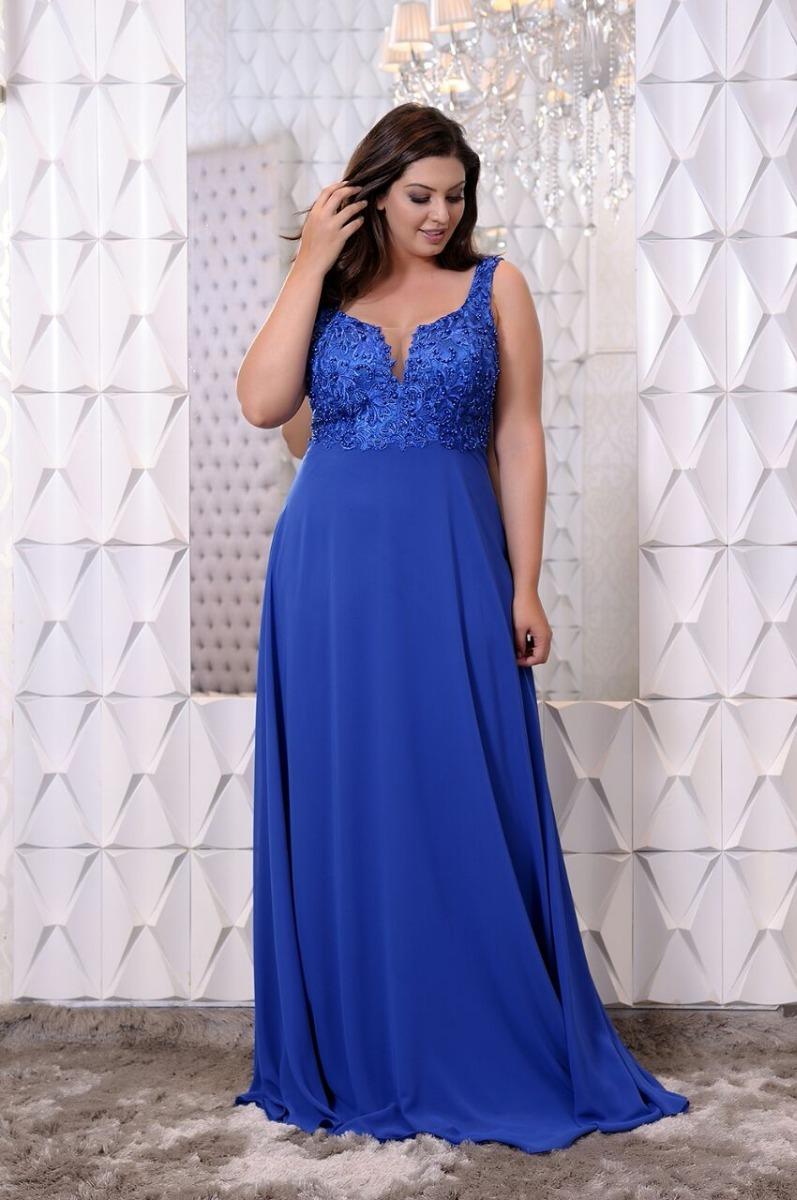 02c864900 vestido de festa plus size azul casamento madrinha-p entrega. Carregando  zoom.