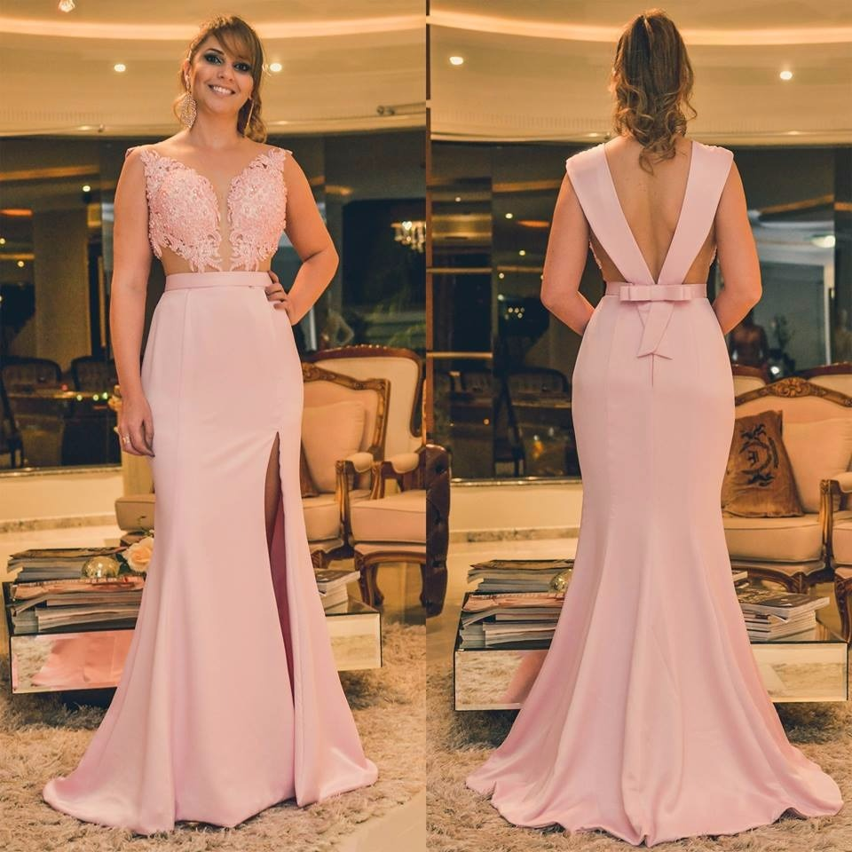 b05535ede Vestido De Festa Sereia Feito Sob Medida - R  599