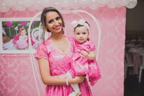 Vestido De Festa Tal Mãe Tal Filha Pink