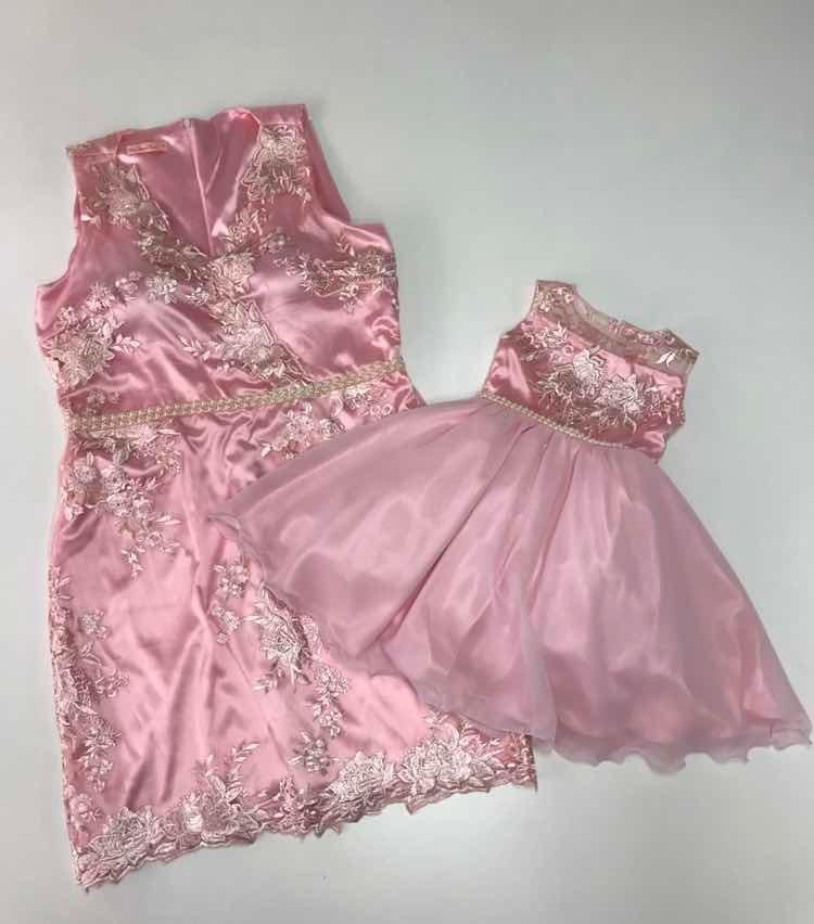 Vestido De Festa Tal Mãe Tal Filha Renda Rosa Tam Gg Tam 1