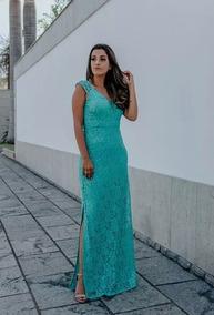 ea216469e6e2 Vestido De Madrinha Verde Tiffany Renda - Vestidos Femeninos Azul ...