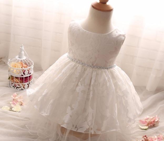 d06c7046a Vestido De Festa Vestido Menina Vestido Batizado - R  120