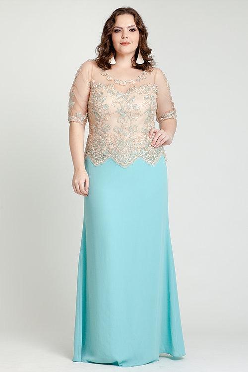 fafdc35c86 Vestido De Festa casamento mãe De Noiva plus Size p entrega - R  500 ...