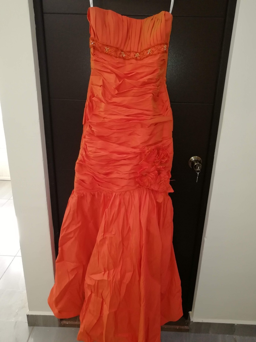d1e6c4d7ad vestido de fiesta alta costura color naranja (oferta). Cargando zoom.