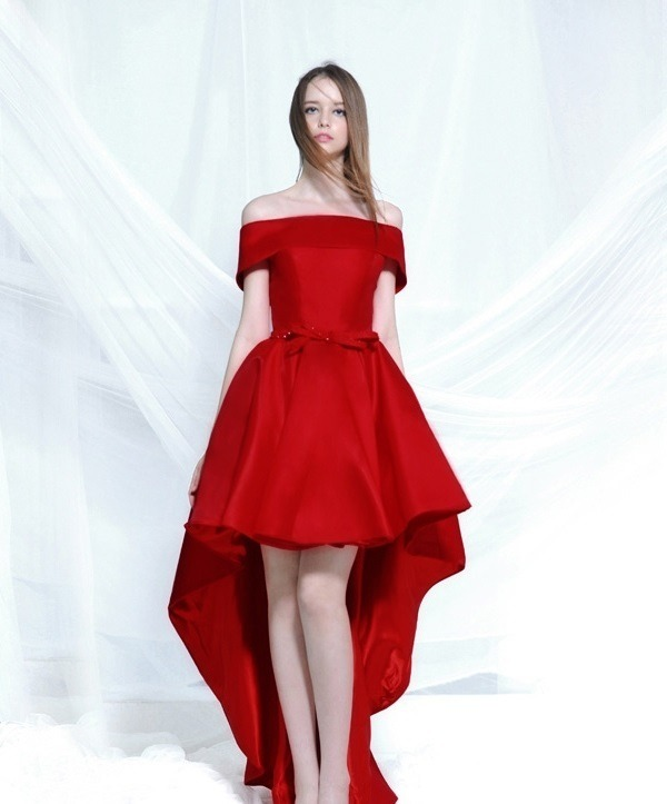 Vestido Rojo Asimetrico Vestidos De Coctel 2019