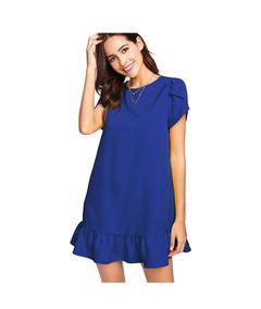 18100f4b8 Vestido Azul Francia Corto - Vestidos Cortos de Mujer en Mercado ...