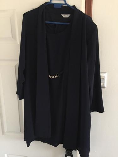 vestido de fiesta azul oscuro talla m