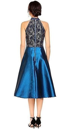 vestido de fiesta azul tallas xl y 2xl