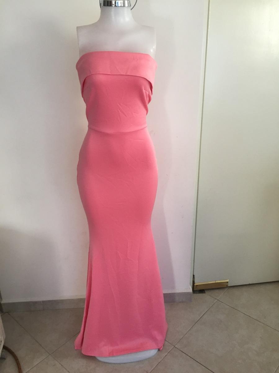 Vestido De Fiesta Blanco Rosa Sin Hombros Moda Largo Boda - $ 815.00 ...